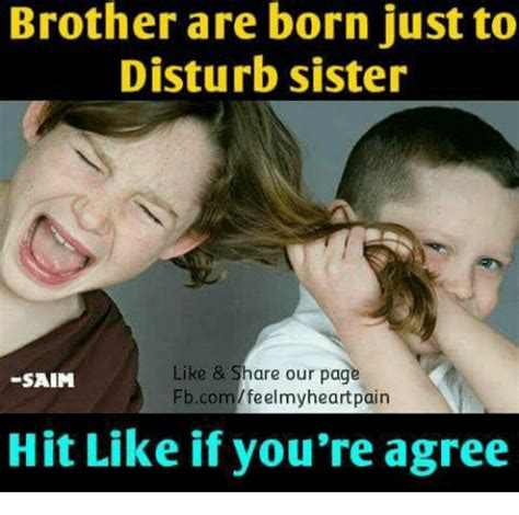 Brother Sister Memes - 25 best memes about hitting hitting memes