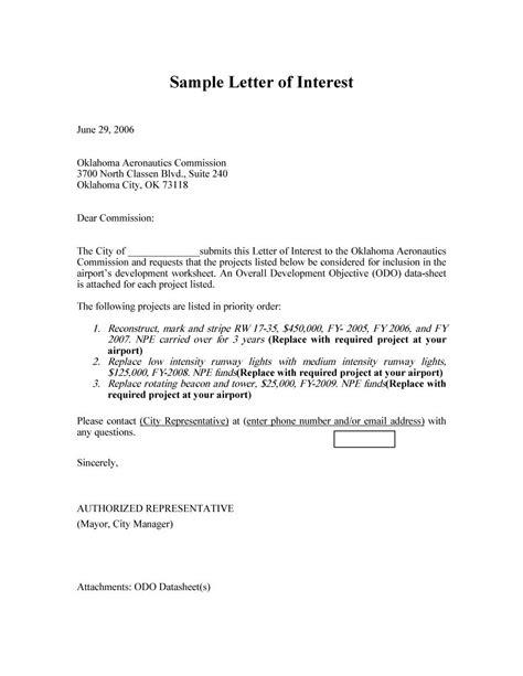 amazing letter  interest samples templates