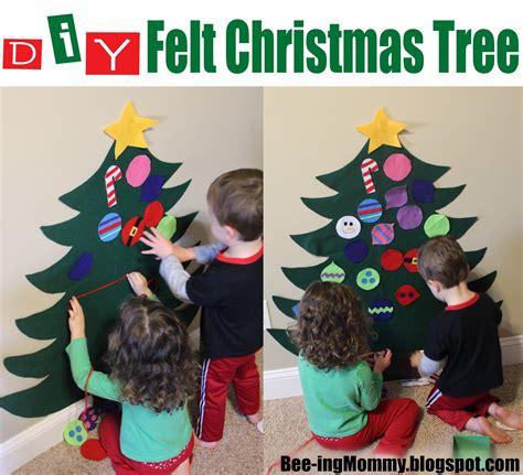bee ing mommy blog felt christmas tree tutorial