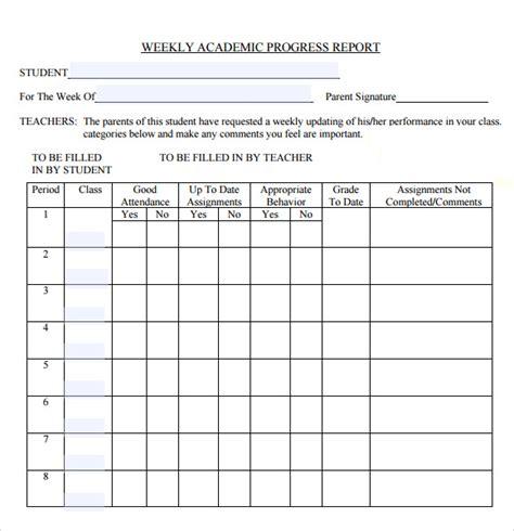 sample weekly progress report  documents   word