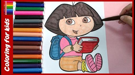 dora  explorer coloring book  kids youtube video