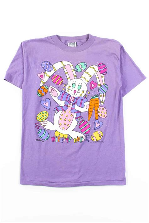 Hippity Hop Easter Bunny T-Shirt (1996, Single Stitch ...