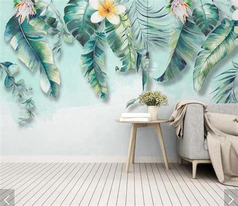Tropical Leaves Flower Wallpaper 3d Wall Murals Wallpaper