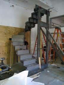Folded Metal Plate Stairs