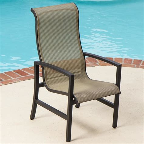 acadia sling patio dining chair modern garden dining