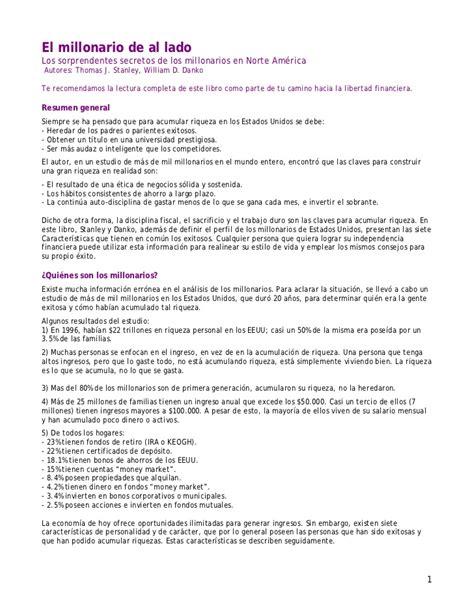 Resume Rabbit Login by 04 Resumen El Millonario De Al Lado