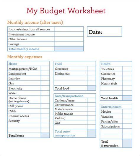 budget worksheets  spanish budget worksheet  spanish