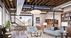 style industriel pour un loft moderne de ville design feria With decoration interieur style industriel