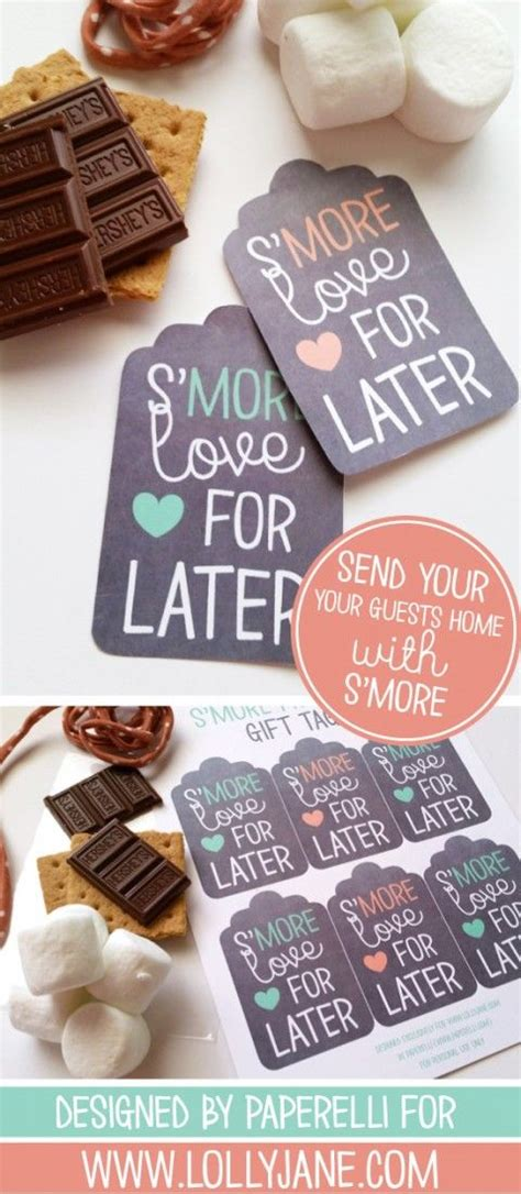 Smore Printable T Tags Printables Wedding Favors