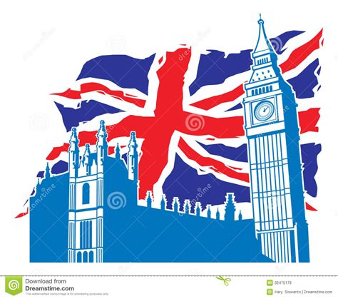 Breast Ct Mr Template Set by Big Ben Of London With Union Jack As A Background Royalty