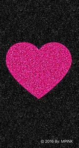 © 2016 Cute Sparkle Pink Heart Wallpaper | Wallpaper ...