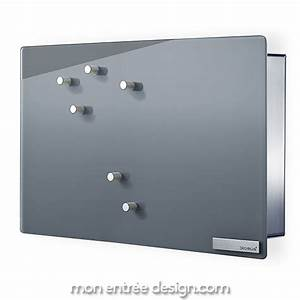 Boite à Clés Originale : boite cl s design velio inox verre gris ~ Teatrodelosmanantiales.com Idées de Décoration