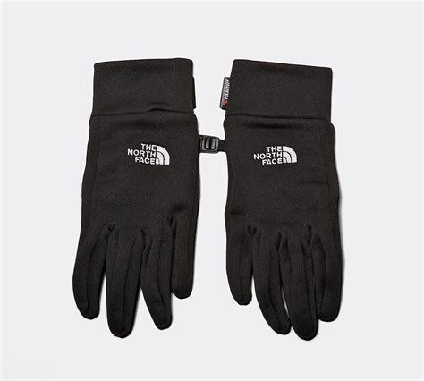 north face powerstretch glove black footasylum