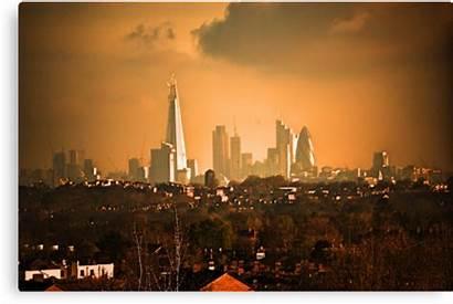 London Skyline Dondavisuk Canvas Transparent Redbubble Prints