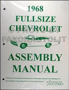 1968 Chevy Wiring Diagram Reprint Impala Ss Caprice Bel