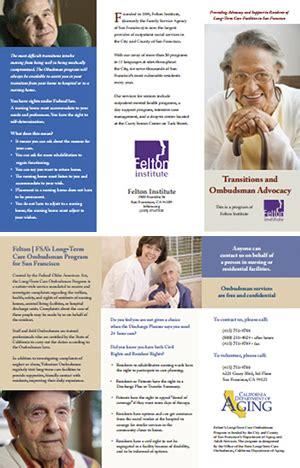 long term care ombudsman program felton institute