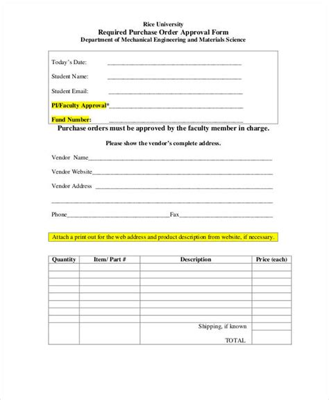 po keyza by fnd labels purchase order form 15 free word pdf documents