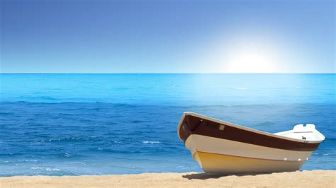 boat sea beach wallpapers hd wallpapers id