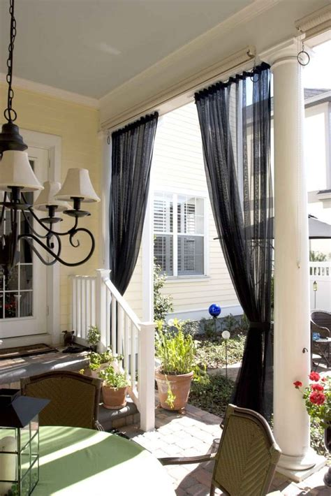 screen porch curtains mosquito netting curtains and no
