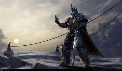 Lich King Dead Warriors Arthas Hell Steps