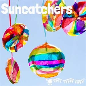 Pretty Round Suncatcher Craft - Kids Craft Room