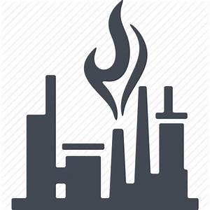 Factory, industry, oil and gas, production, refinery icon ...