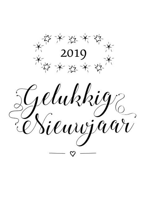 Kleurplaat Proost by Gelukkig Nieuwjaar 2019
