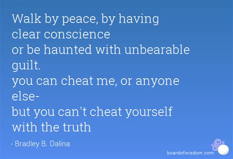 walk  peace   clear conscience   haunted