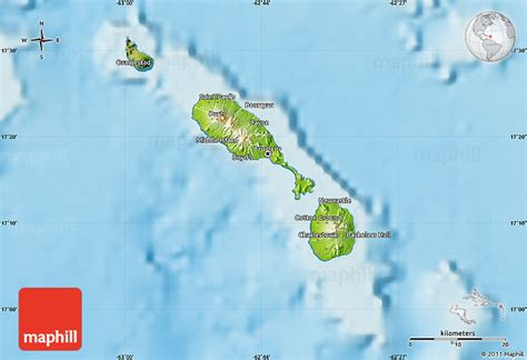 Saint Kitts And Nevis Satellite Map