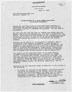 NSDD - National Security Decision Directives - Reagan ...