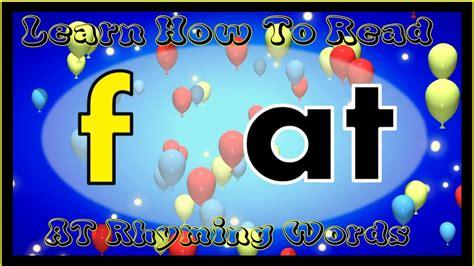 learn   read  rhyming words   fun song