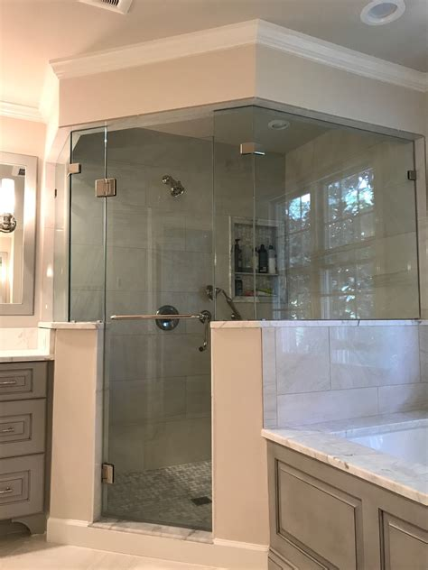 remodeled master bathroom  arlington va