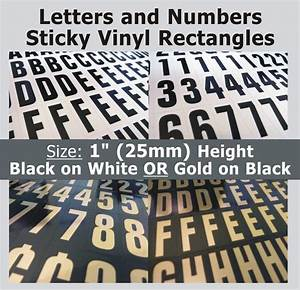 234 x sticky letters and numbers 1quot self adhesive for Vinyl adhesive letters and numbers