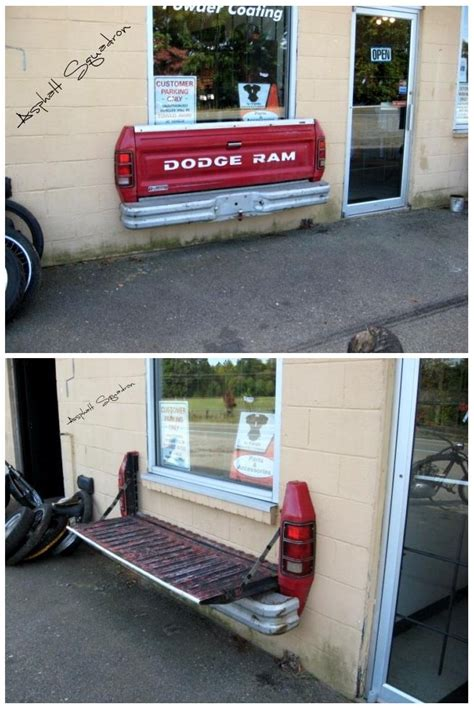 wall mounted tailgate bench  freakin cool