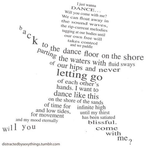 concrete poem on tumblr