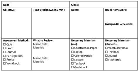esl lesson plans  templates    today