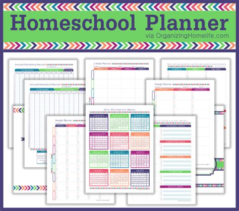 printable homeschool planner expansion pack