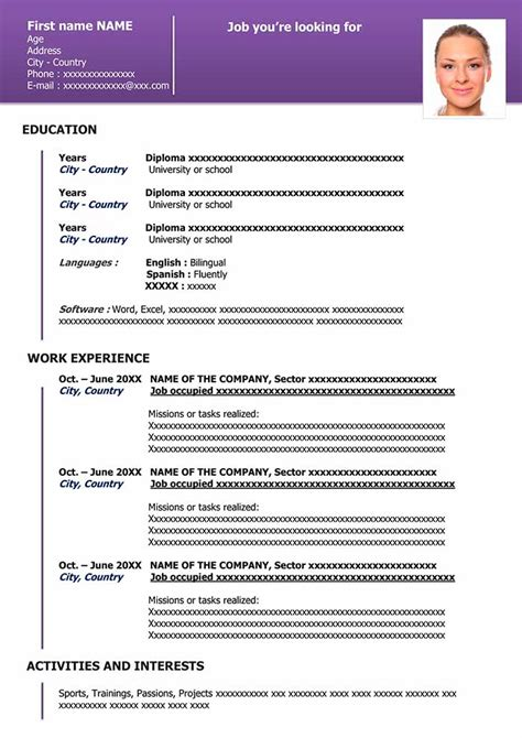 Downloadable Resume Template by Free Downloadable Resume Template In Word