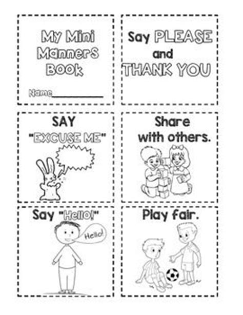 manners theme preschool manners mini manners book coloring manners and student 808