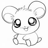 Coloring Cute Pages Kawaii Food Hamster Print Comments sketch template