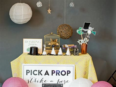 easy props to make how to set up a diy photo booth with props and backdrop hgtv