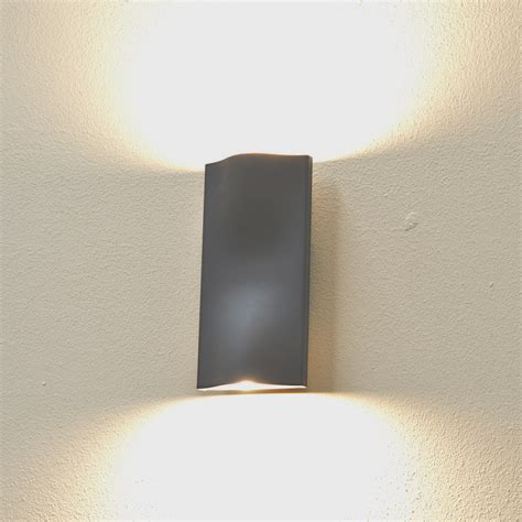 cyclone up outdoor wall light graphite warm white led