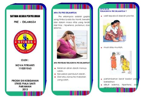 Tanda Tanda Hamil Leaflet Preklamsia
