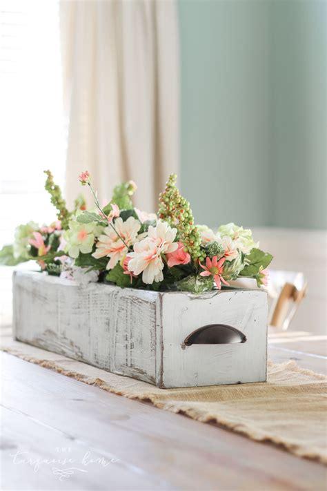 diy farmhouse wooden box centerpiece  imagine