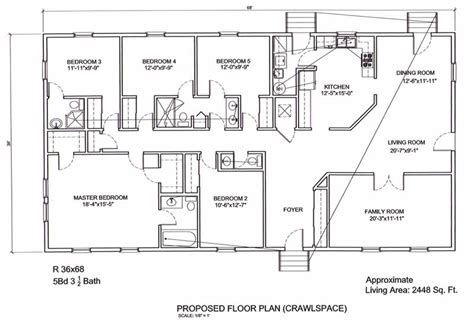 five bedroom ranch house plans ranch style house plans 5 bedroom escortsea