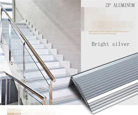 personnalis 233 en aluminium angle coin bord nez de marche en escalier bande en caoutchouc pi 232 ces d