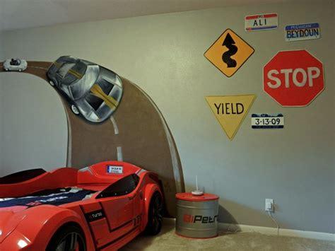 race car room decor car race track wall mural boys car themed room