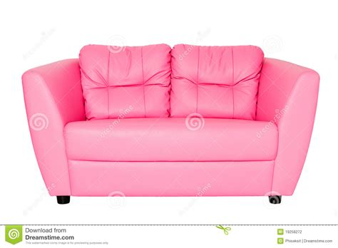 Leather Loveseat Sofa by Pink Sofa Stock Photography Image 19258272