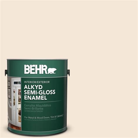 behr paint colors vanilla delight behr 1 gal w b 220 vanilla delight gloss enamel alkyd interior exterior paint 390001