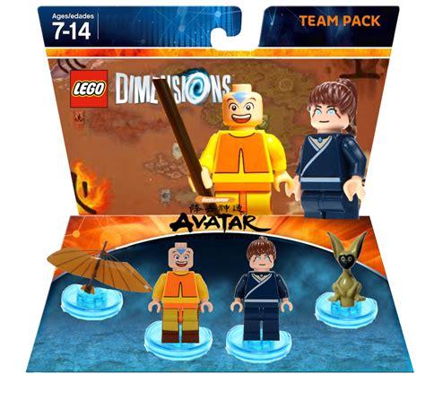 aang  katara team pack rapmilo lego dimensions